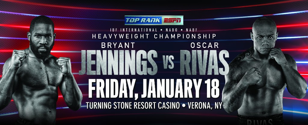 January 18: Bryant Jennings-Oscar Rivas Heavyweight Battle